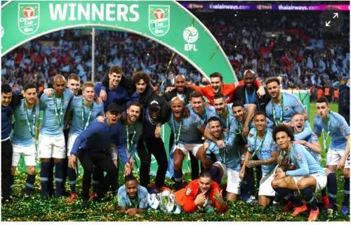 Beruntung di laga adu penalty, Manchester City Juara Carabao Cup