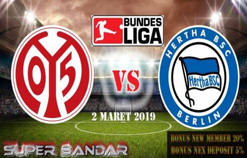 Prediksi Bola Hertha Berlin vs FSV Mainz 05 2 Maret 2019