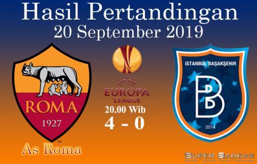 Hasil Pertandingan AS Roma Vs Istanbul Basaksehir 4-0
